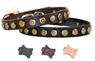 dean and tyler studded leather dog collar