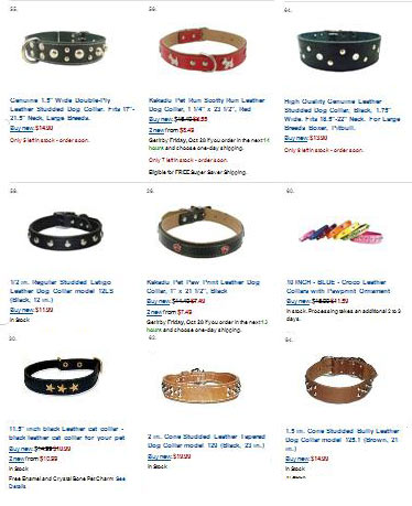 see more studded dog collars