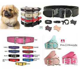 plain leather collars for dogs