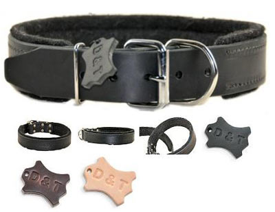dean and tyler leather dog collar
