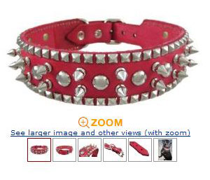 Pink Harley Dog Collar