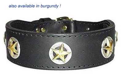 ranger dog extra wide leather dog collar