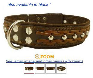 Studded Braided Leather Dog Collars