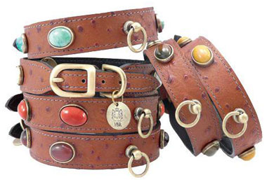 country collection leather dog collar
