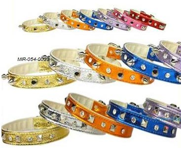 spiked or studded dog collars small