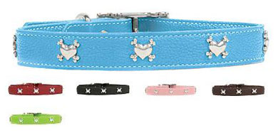 leather studded dog collars small